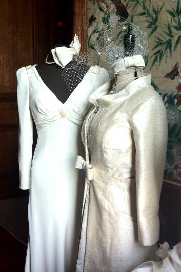 Tiffany Coat, with Tiffany Lace Dress Underneath, Unity Silk dress.jpg