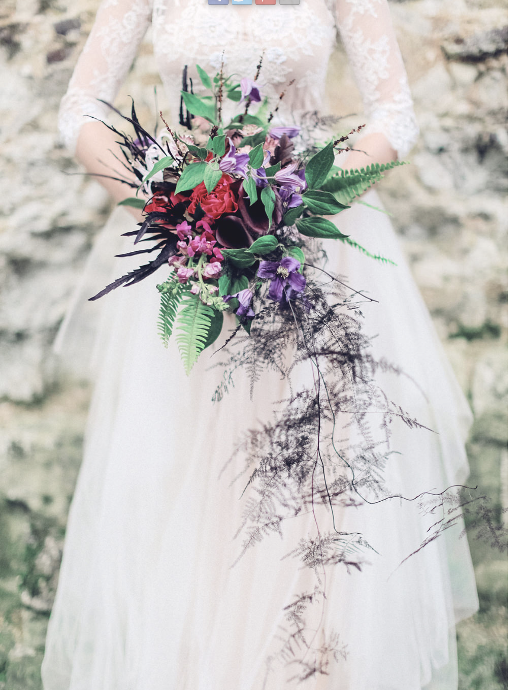 Dark and Delicate, a blog on Rock My Wedding. Photo by Sunshine Photography