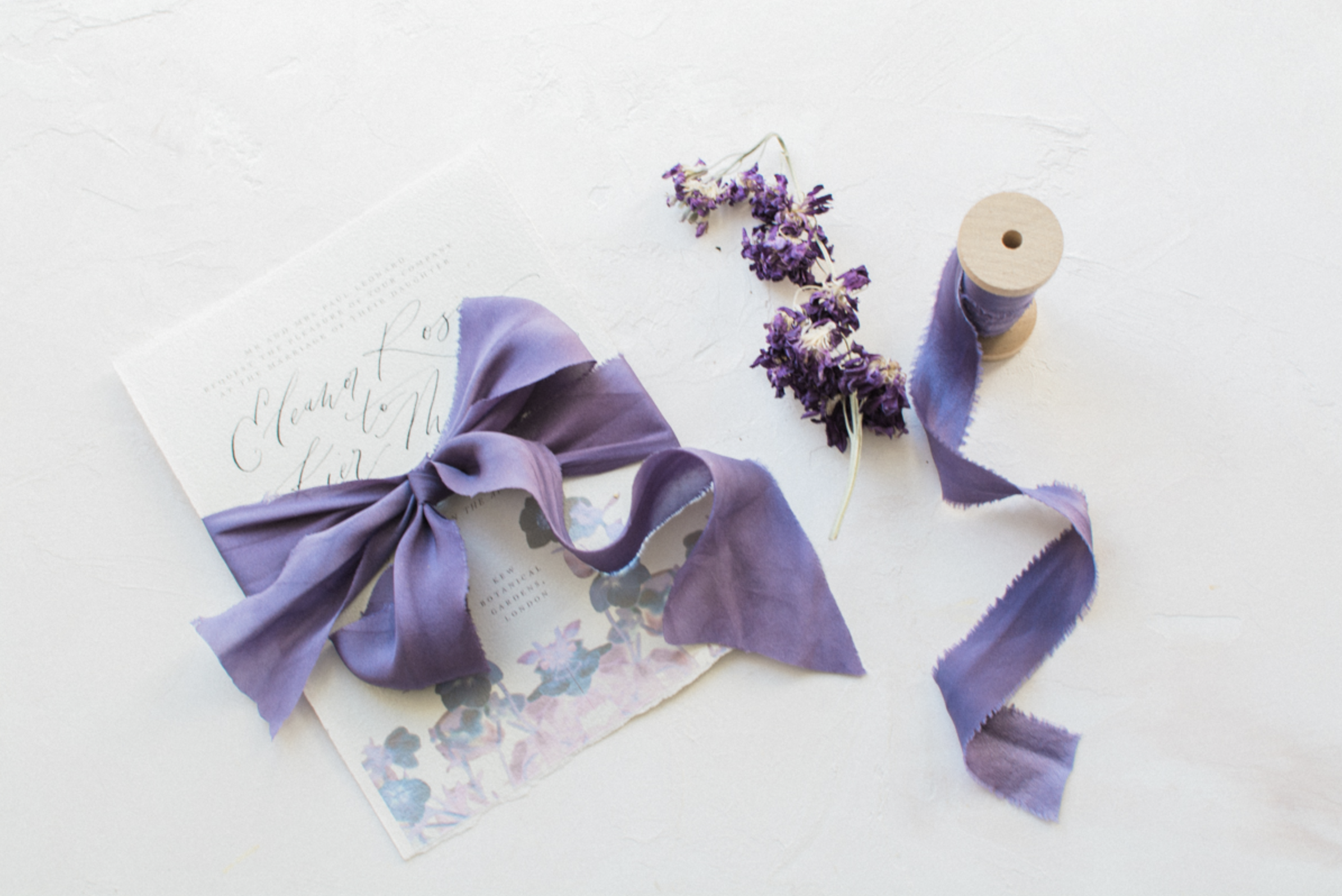 Indigo Silk Ribbon, Kate Cullen Styling
