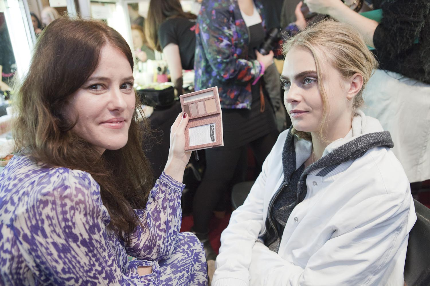 Lisa Eldridge, working back stage at Fashion Week