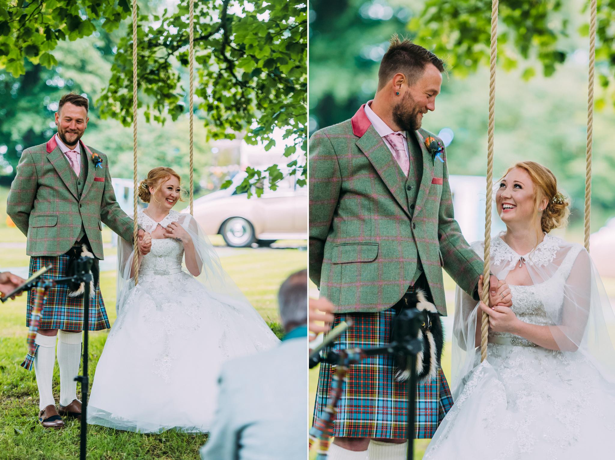 Bridal Make Up at Tullibole Castle Wedding
