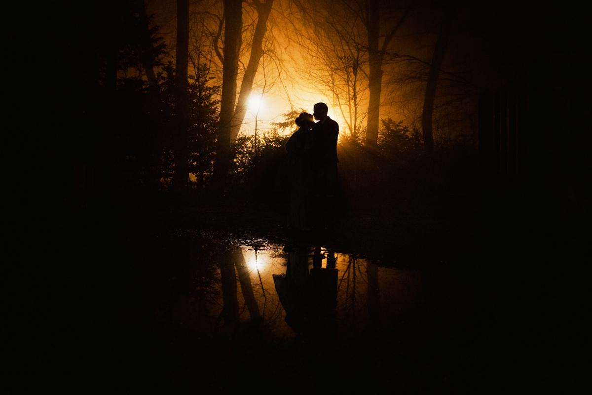 Scottish backlit wedding portrait // Photo by  Zoe Alexandra Photography