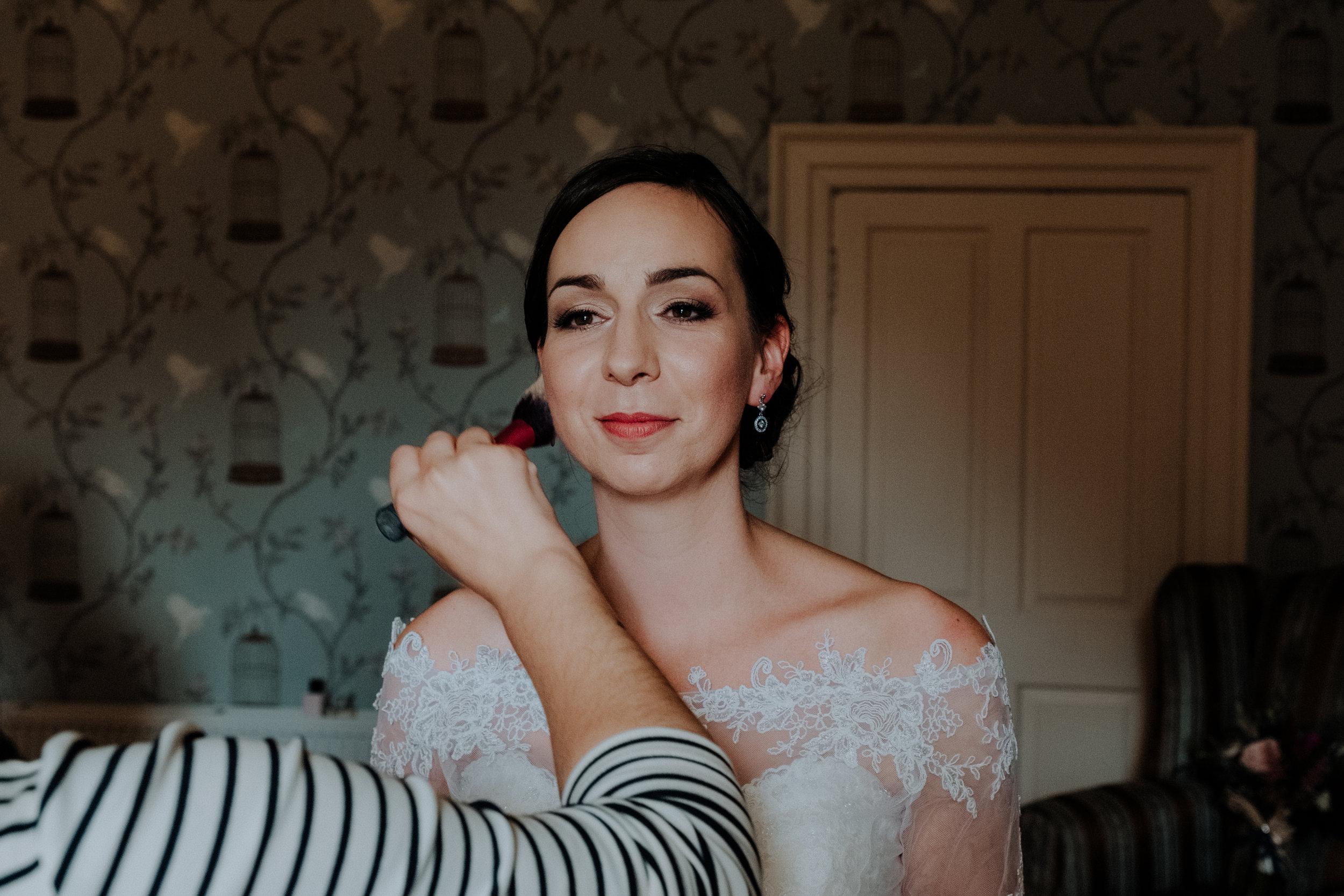 Bridal Make up for scottish castle wedding