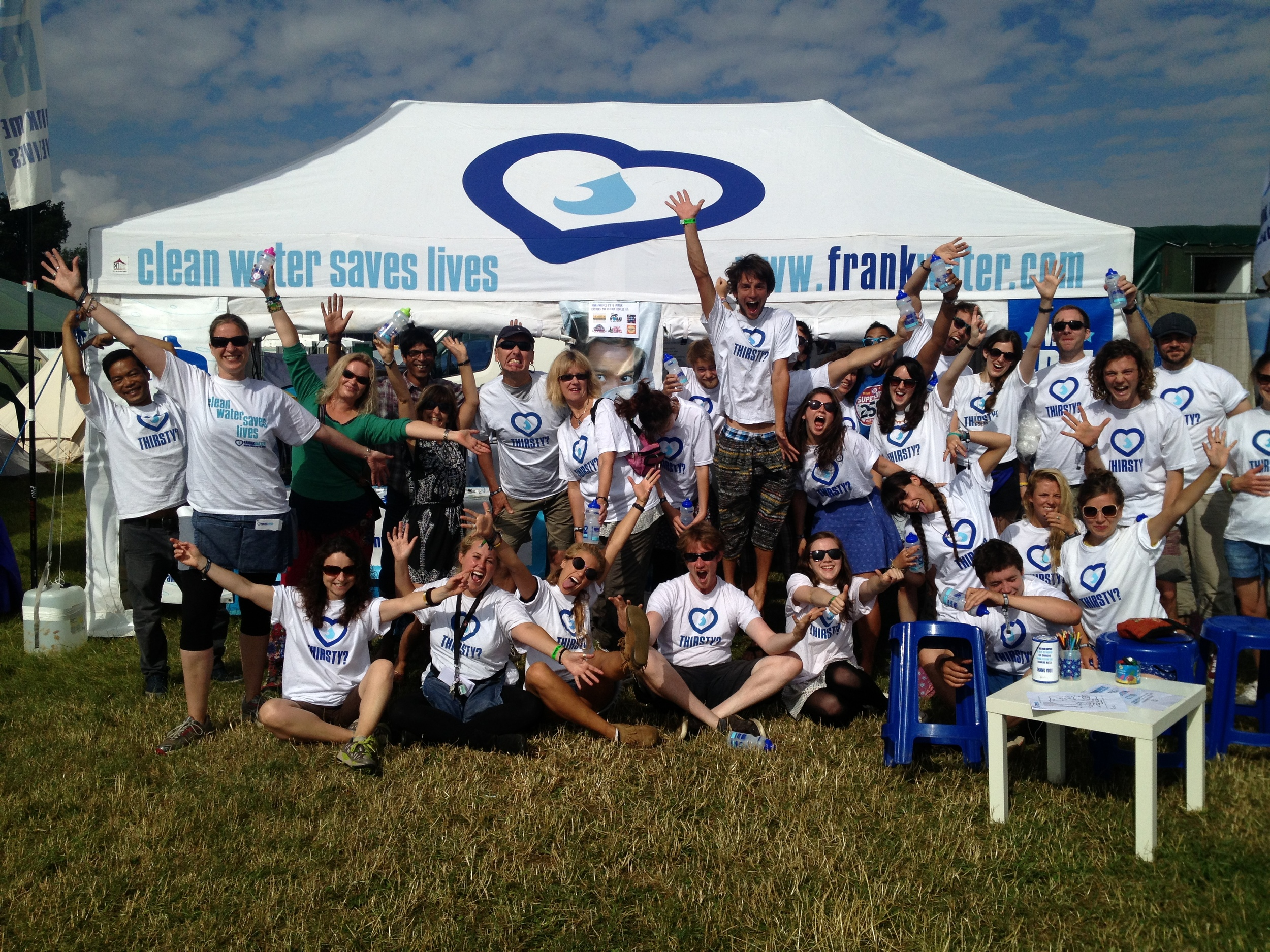The FreeFill team at WOMAD 2013