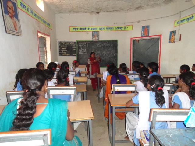 Menstrual Hygiene Management Training at Bhelkhi panchayat school by Master trainer Ms.Sharda Yadav