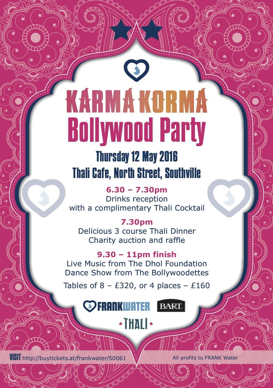 Karma Korma Bollywood Party Invitation