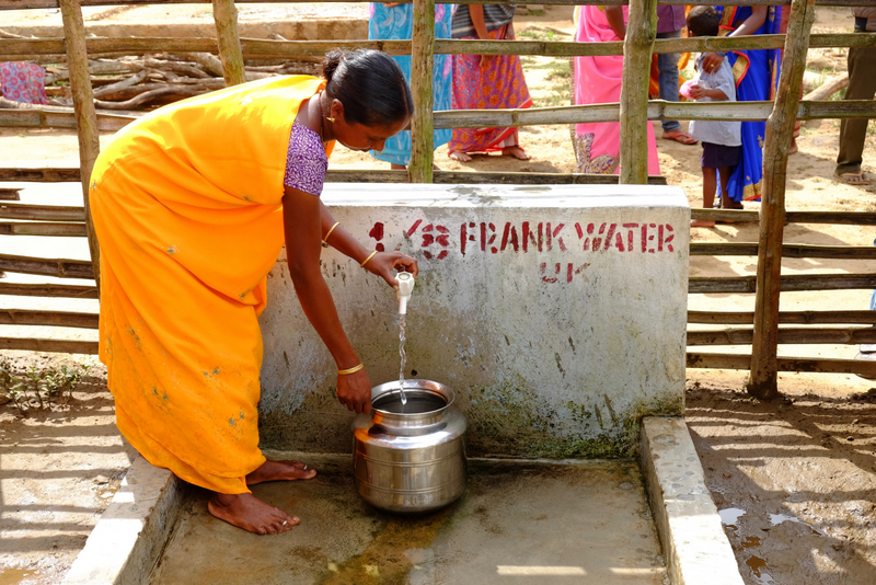 Women collect water in Eastern Andhra Pradesh