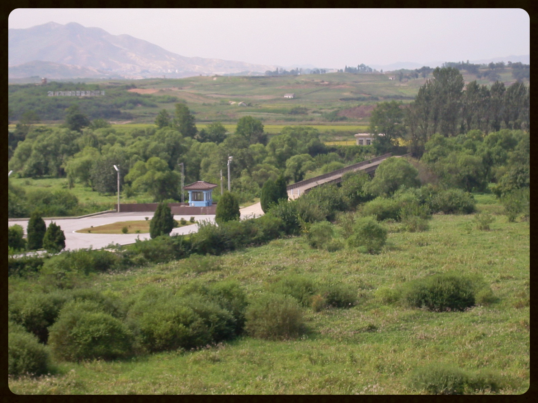 """Bridge of No Return"" inPanmunjeom (border between South Korea and North Korea).Photographer: User:Filzstift (Wikimedia Commons)"