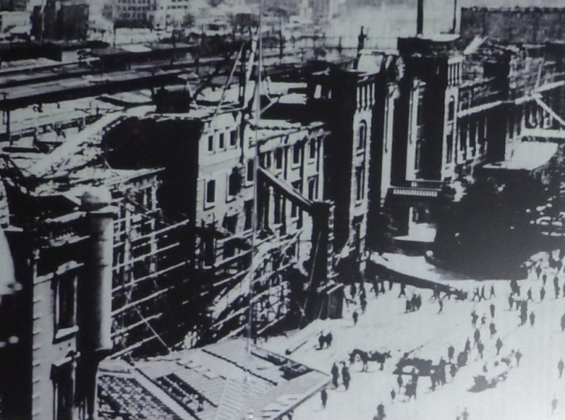 Tokyo Station after the firebombing.