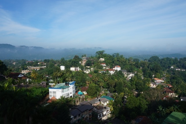 A view of the Kandyan hills.