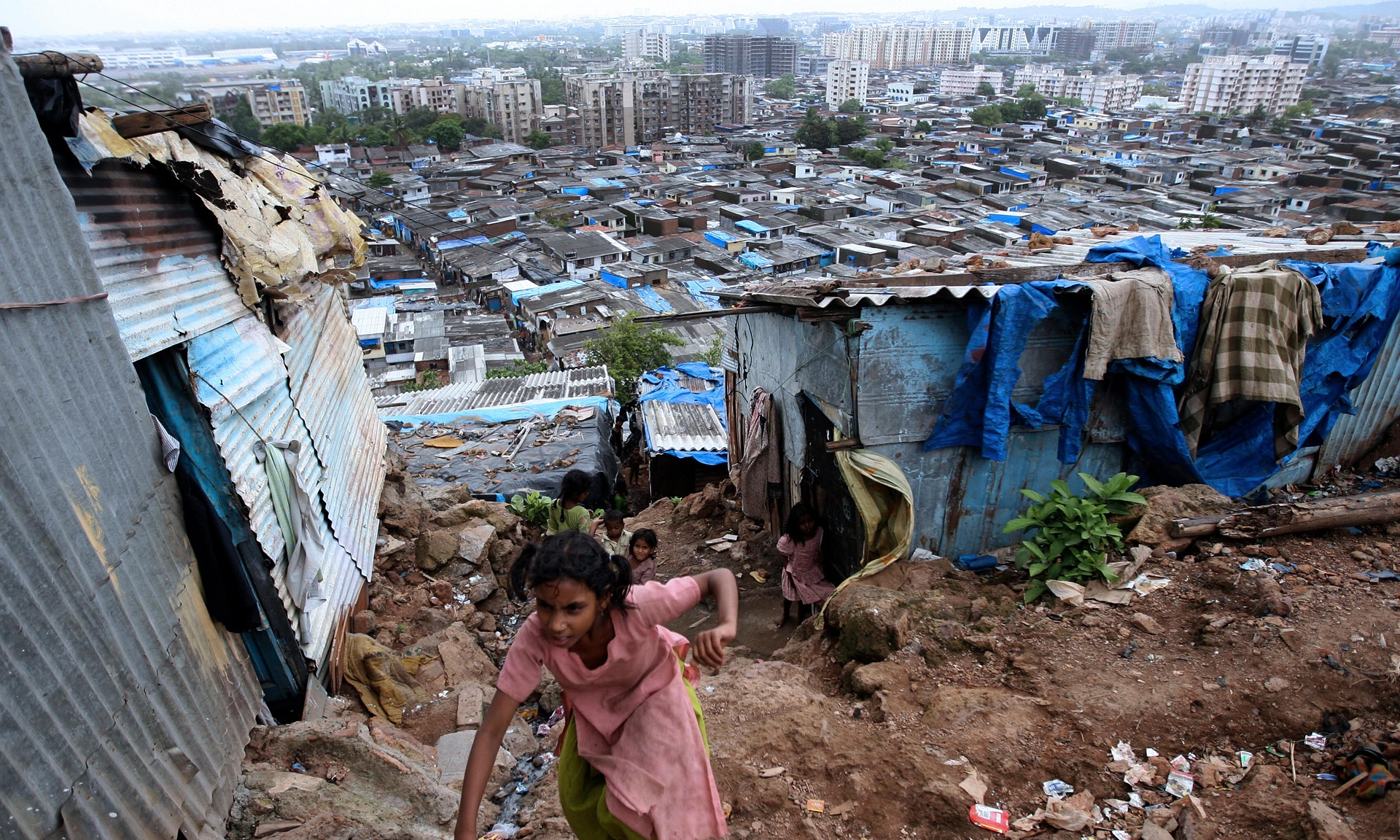 "Central Mumbai: 'The most freighted of all words in the story of a city is the word ""slum"".' Photograph: Pal Pillai/AFP/Getty Images"