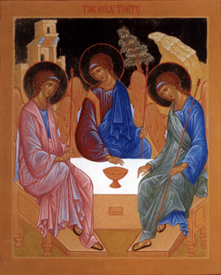 The Holy Trinity  , icon by Mirra Meylakh