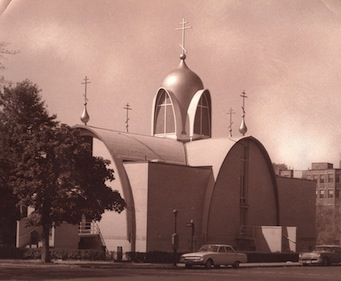 Newly-completed Cathedral with the original dome, 1960