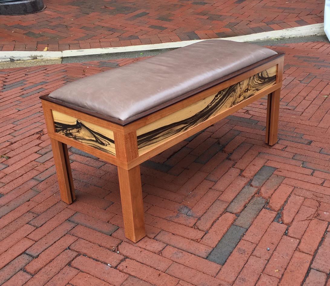 Swirl Upholstered Bench