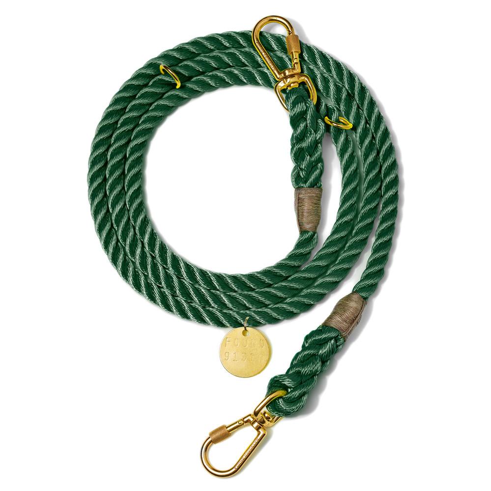 Nylon-dog-leash-Hunter-green_collar.jpg