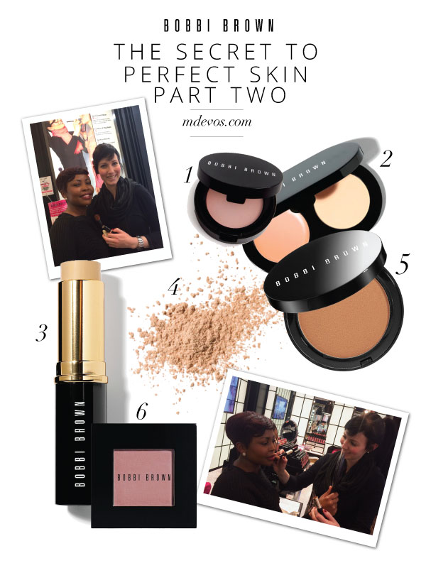 Dené Booyens demonstrates on her fellow makeup artist, Smangele at the Bobbi Brown store in  Edgars ,  Sandton .