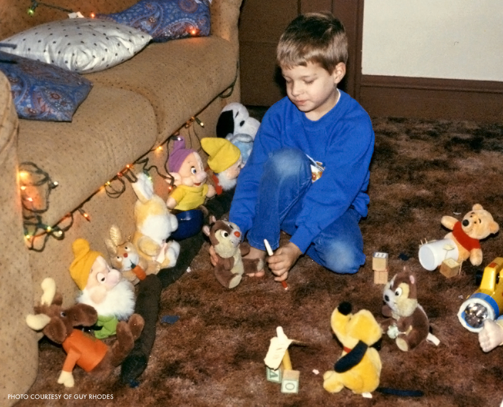 Guy lights a living room production at age five.