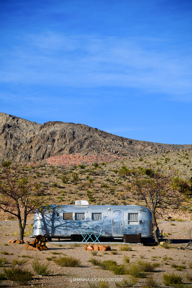 Nov 10, 2017; Death Valley, CA, USA; An Airstream camper sits in a desert campsite. Copyright: Shanna Lockwood