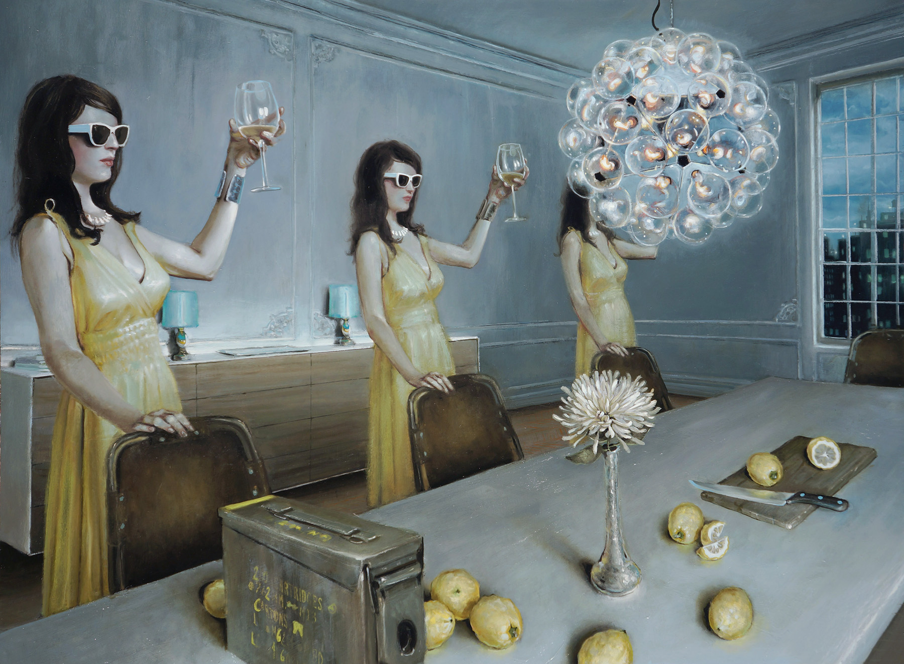 """L'Chaim Dandelion"" - oil on panel - 36"" x 48"" - 2012"