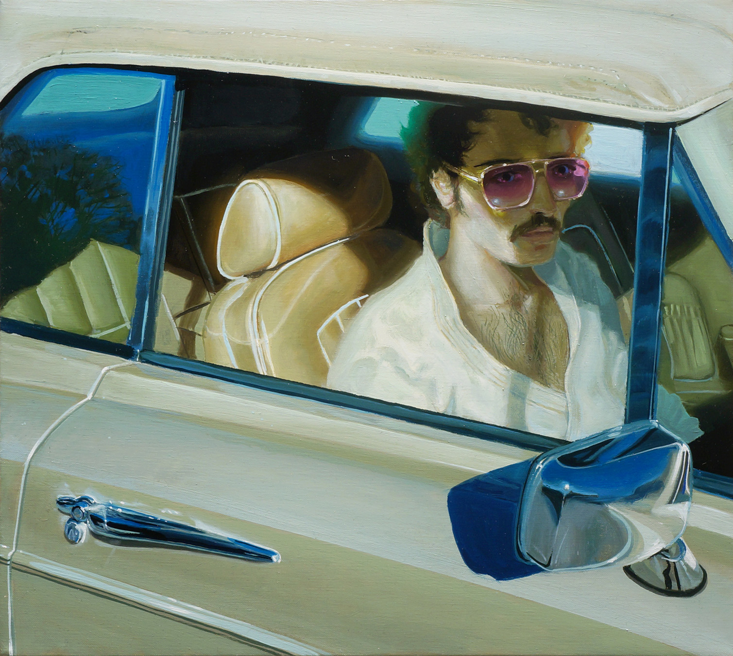 Riding Shotgun To Judo | oil on linen | 16x18 | $4500