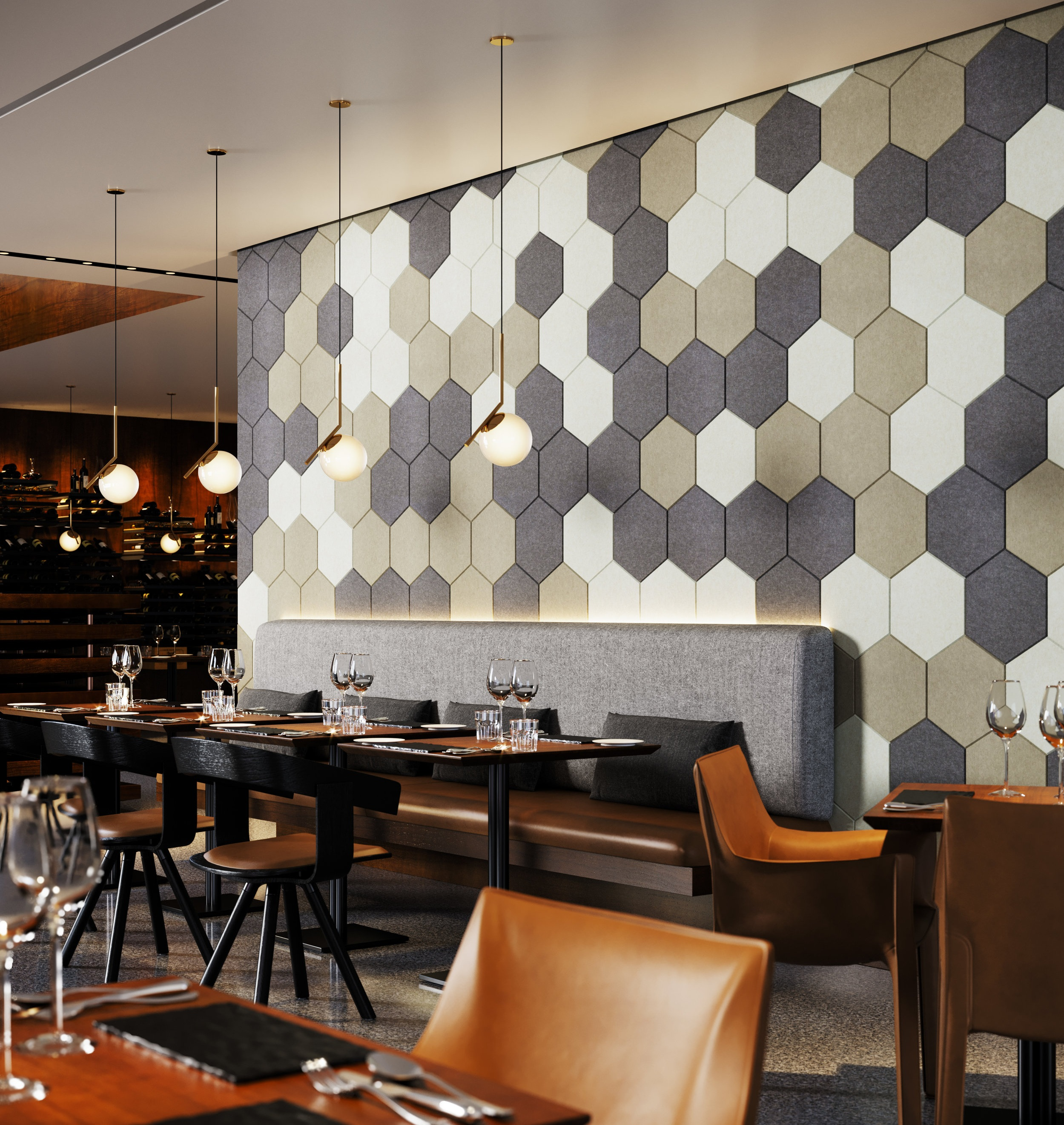 TURF's    Hive Acoustical Wall Panels