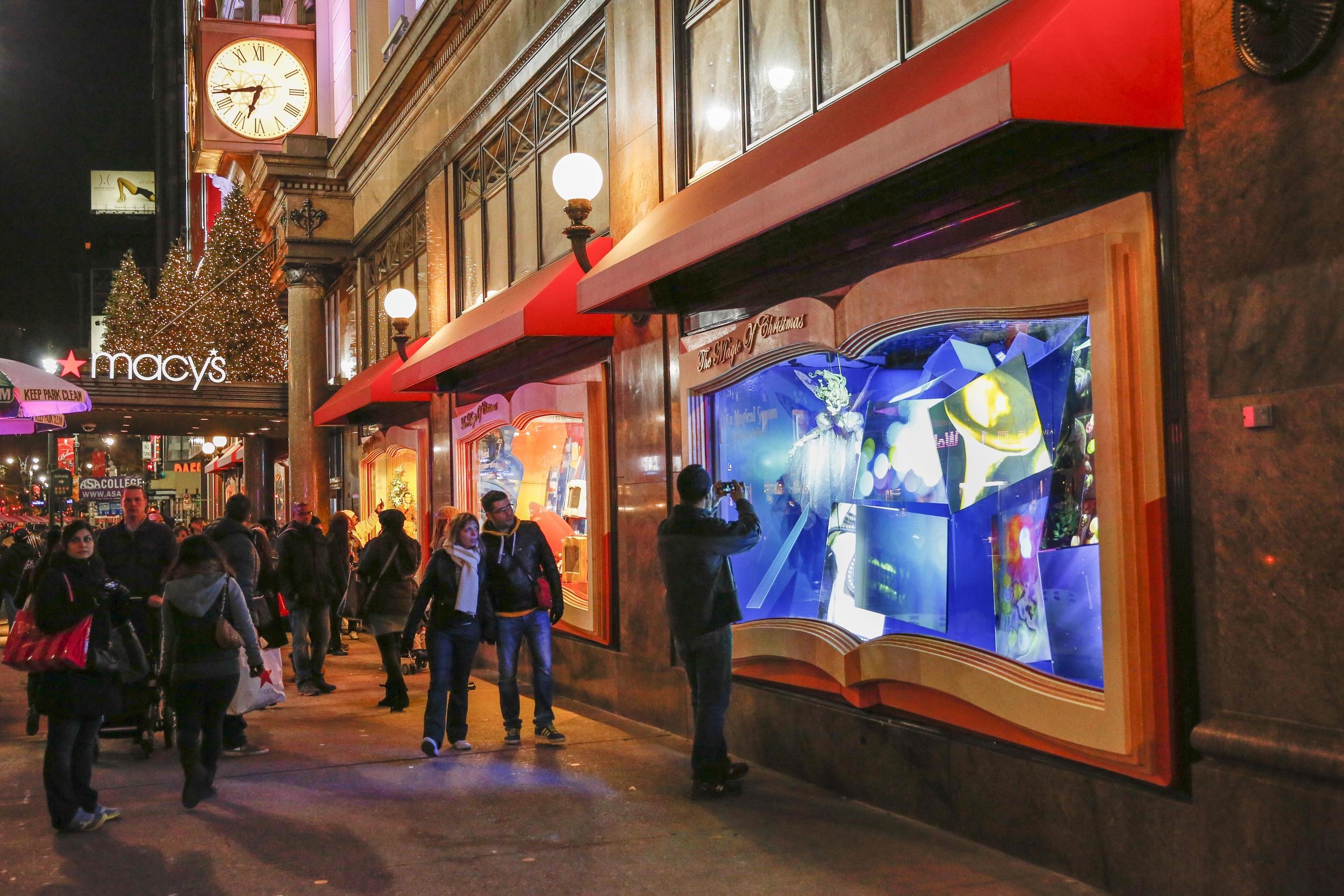 Macy's Herald Square Christmas Display.