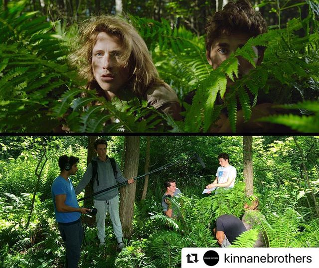 #Repost @kinnanebrothers ・・・ Making the most of natural light while shooting our film @SavingBillMurray