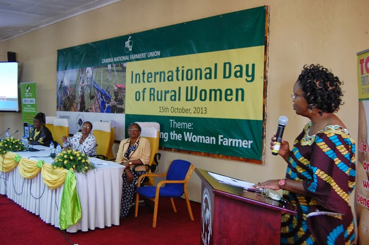Inspired by both peer to peer learning in partnership with experts. Opening remarks during Women's Forum during Int'l Day of Rural Women's Gathering, Lusaka Zambia. Photo by Erin Schneider, WFO Women's Committee Member