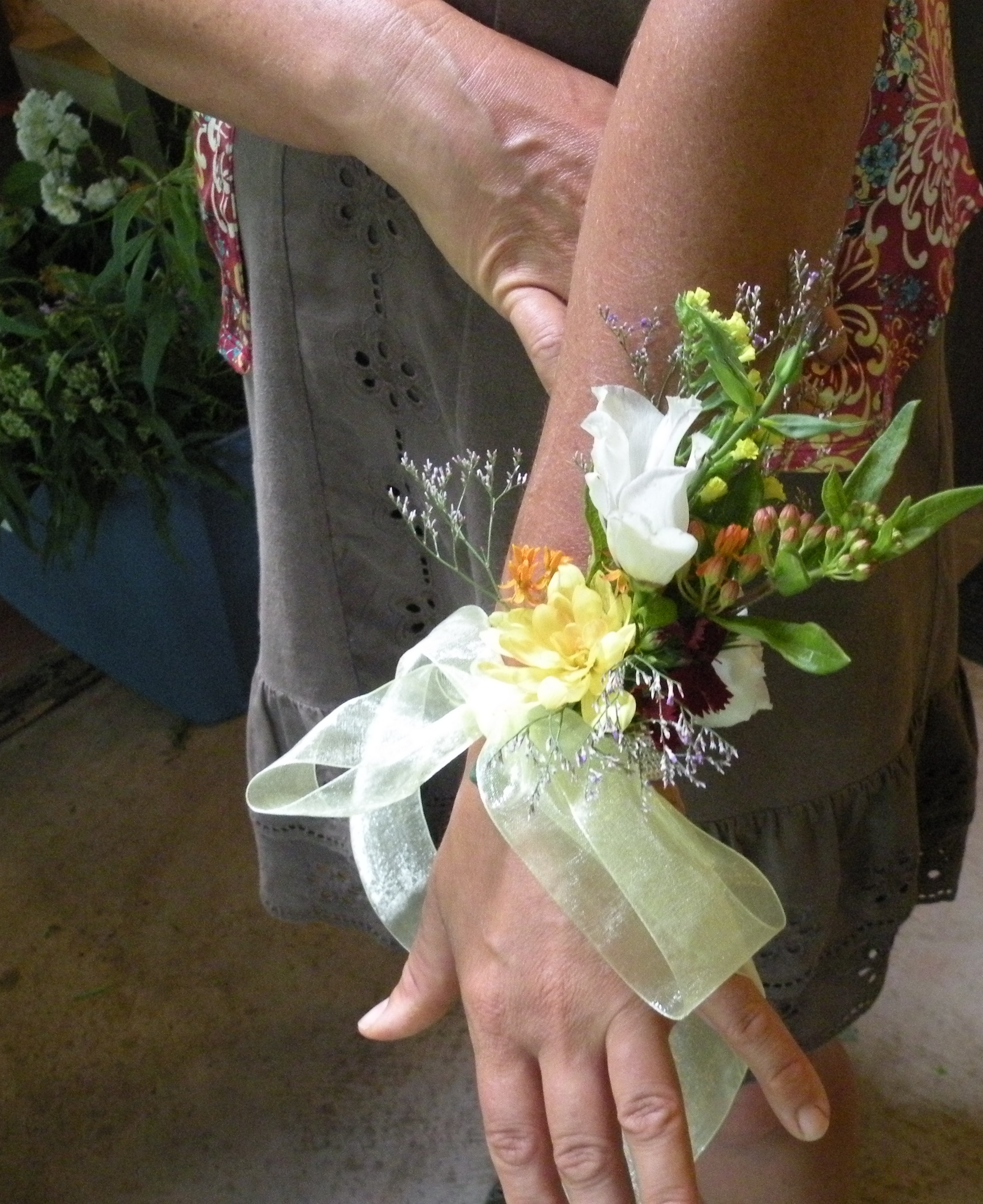 Sample of wrist corsage