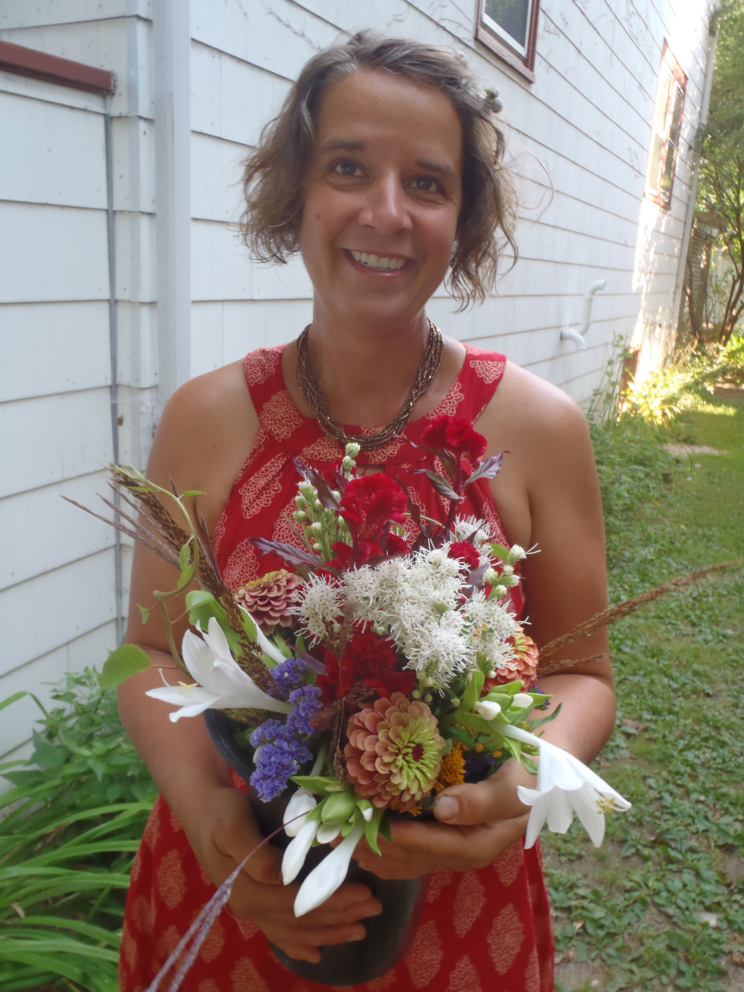 Farmer Erin w/Bridal Bouquet
