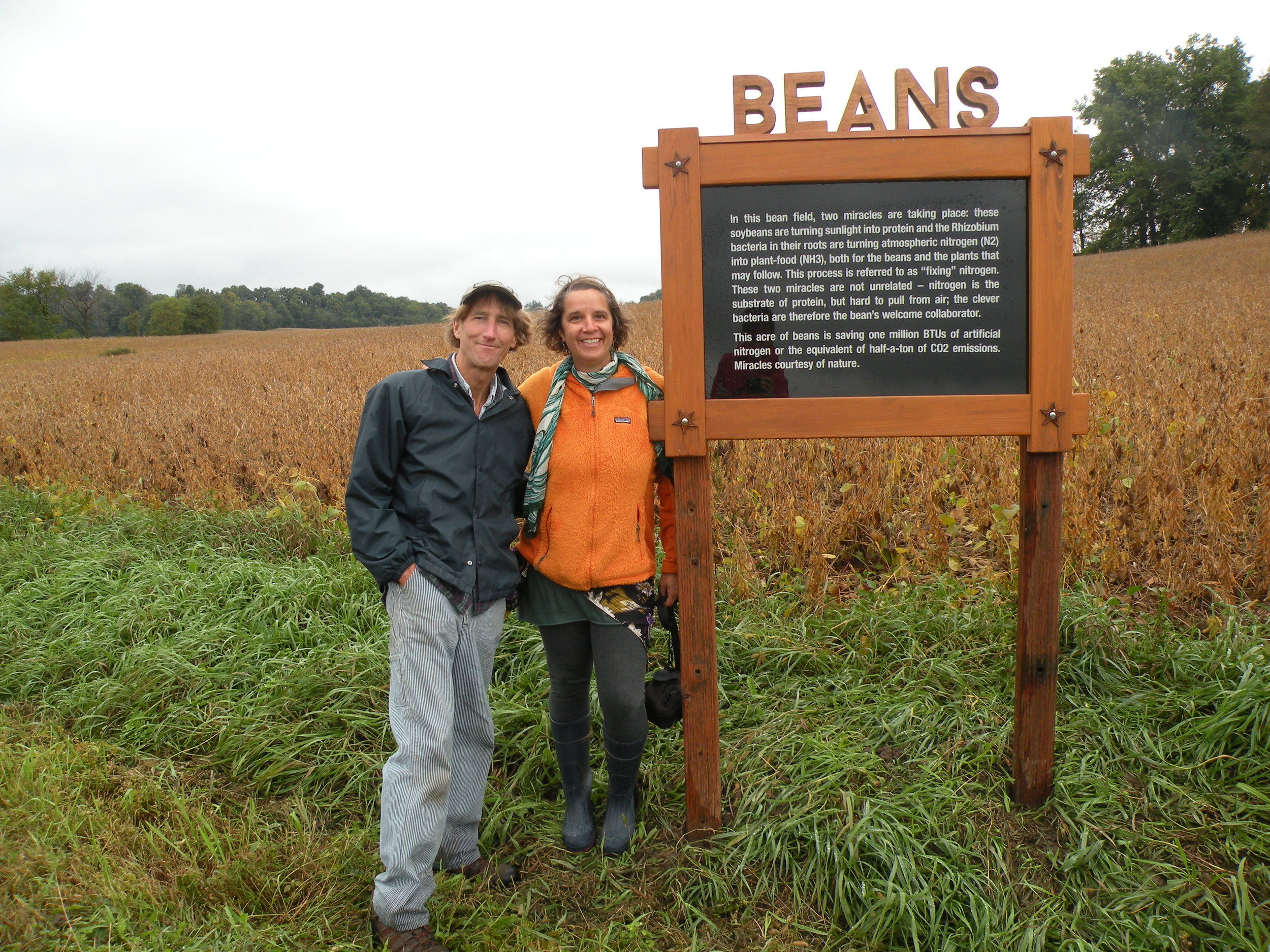 Poised in front of the Beans Field Notes along this year's Farm Art D'tour. Photo by Suzanne Husky