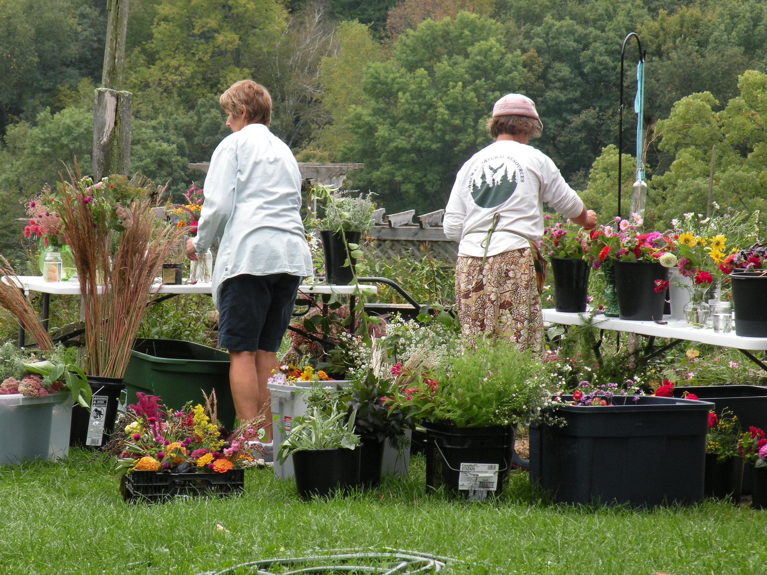 The farm's bouquet - making studio