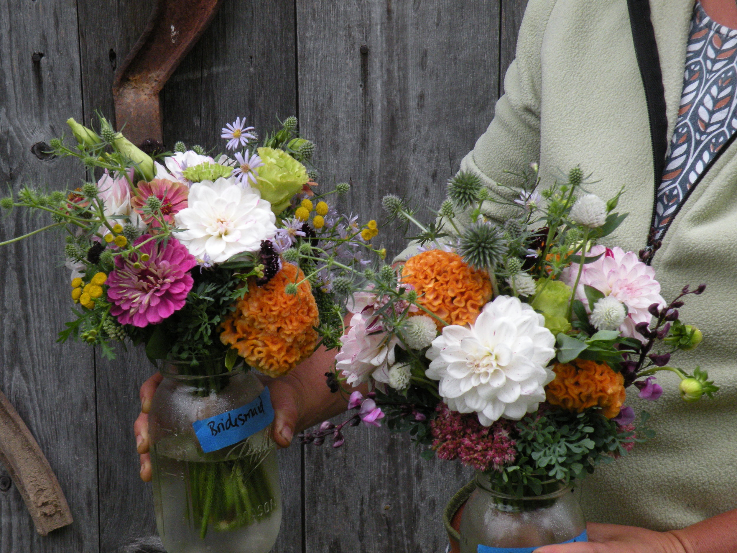 Small bridesmaid bouquets for a late september wedding