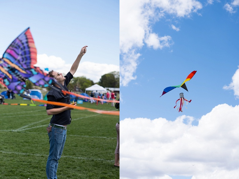 Kite Flying in City Park | Fort Collins Colorado