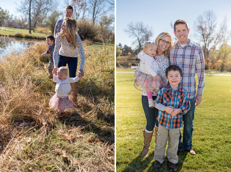 fun and beautiful family in the summer sun in Fort Collins Colorado. Film photography by family portrait photographer Sonja K Photography.