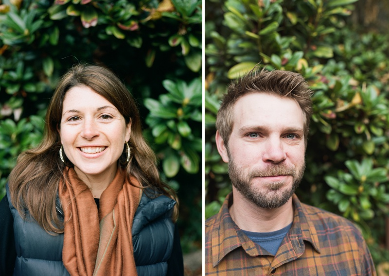 Portraits of a young couple in Lithia Park Ashland, Oregon. Film head shots by Sonja Salzburg of Sonja K Photography.