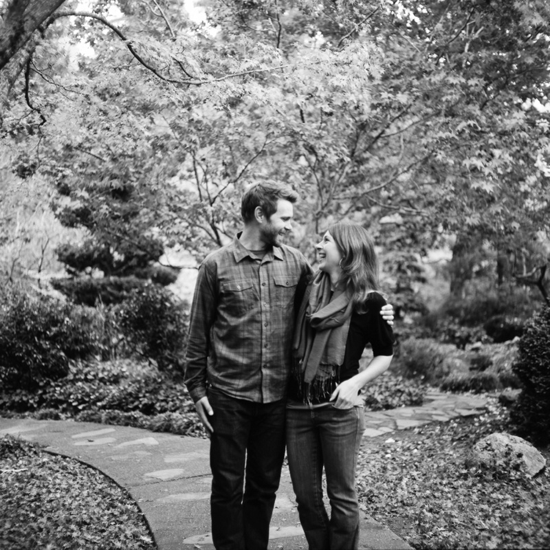A young couple on a warm fall day in Ashland, Oregon. Film photography by Sonja Salzburg of Sonja K Photography.