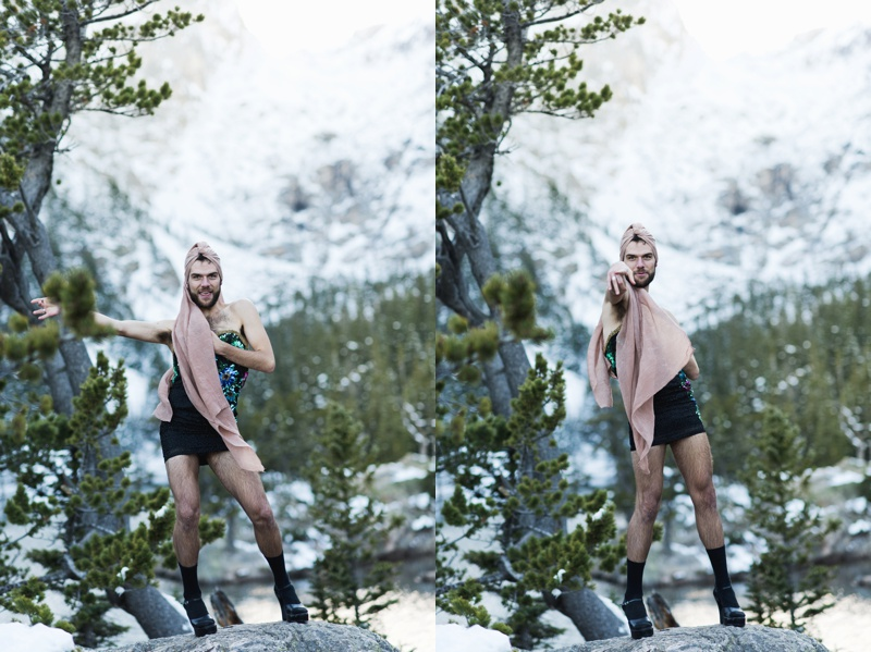 Dancer in Dress outside, Portrait, Rocky Mountain National Park, Sonja K Photography
