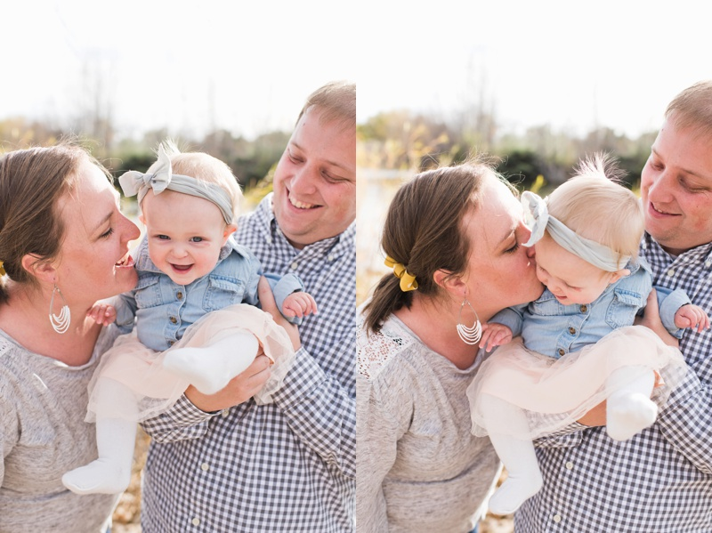 A laughing family on a warm fall day. Film family portraits by Sonja Salzburg of Sonja K Photography.