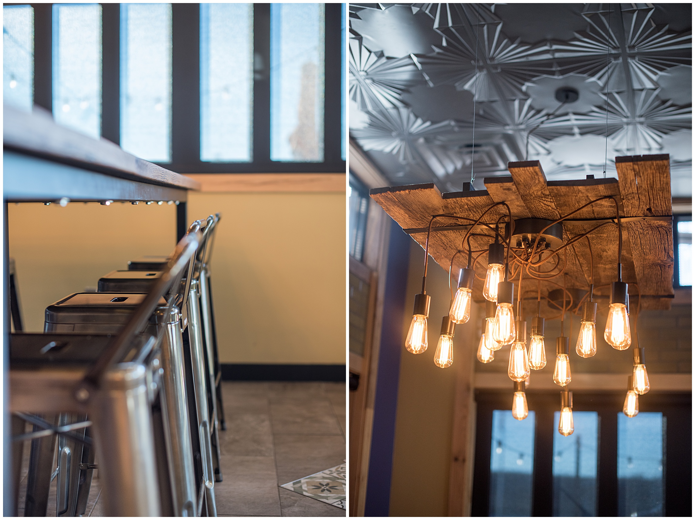 some detail architectural images of new features inside Qdoba's newest stores, by Sonja K Photography