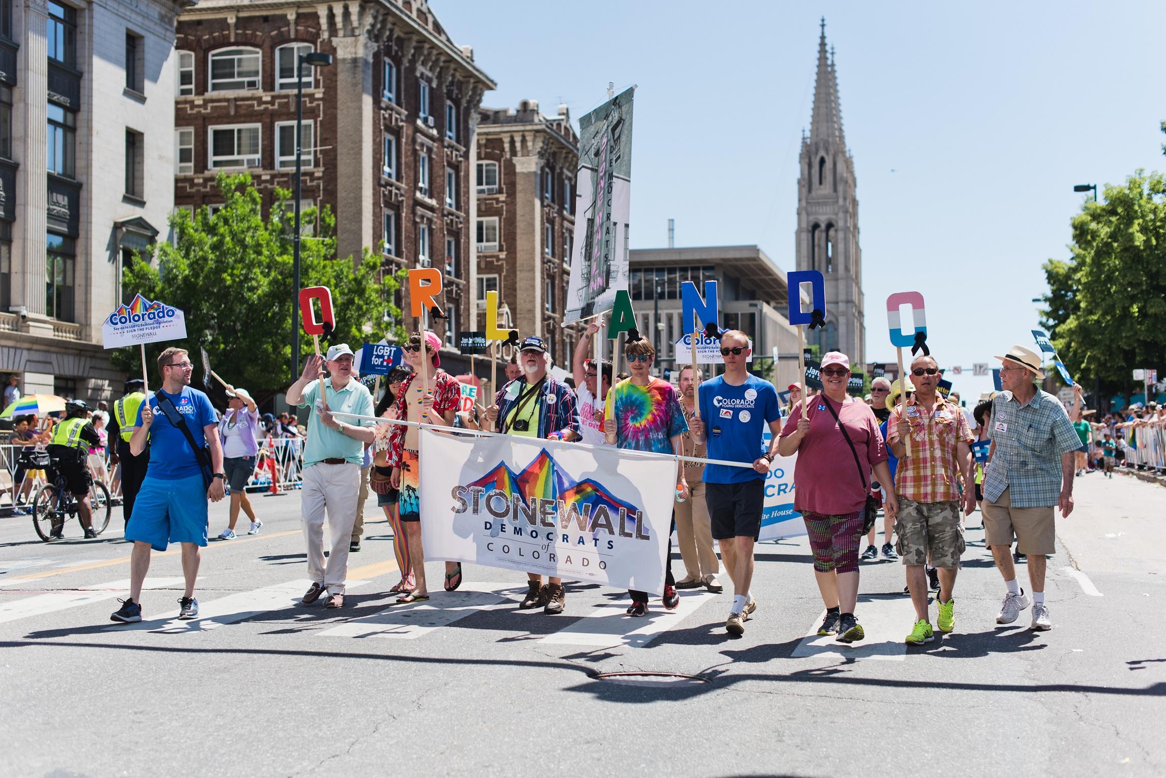 Pride celebration in Denver, Colorado. Photography by Sonja Salzburg of Sonja K Photography.