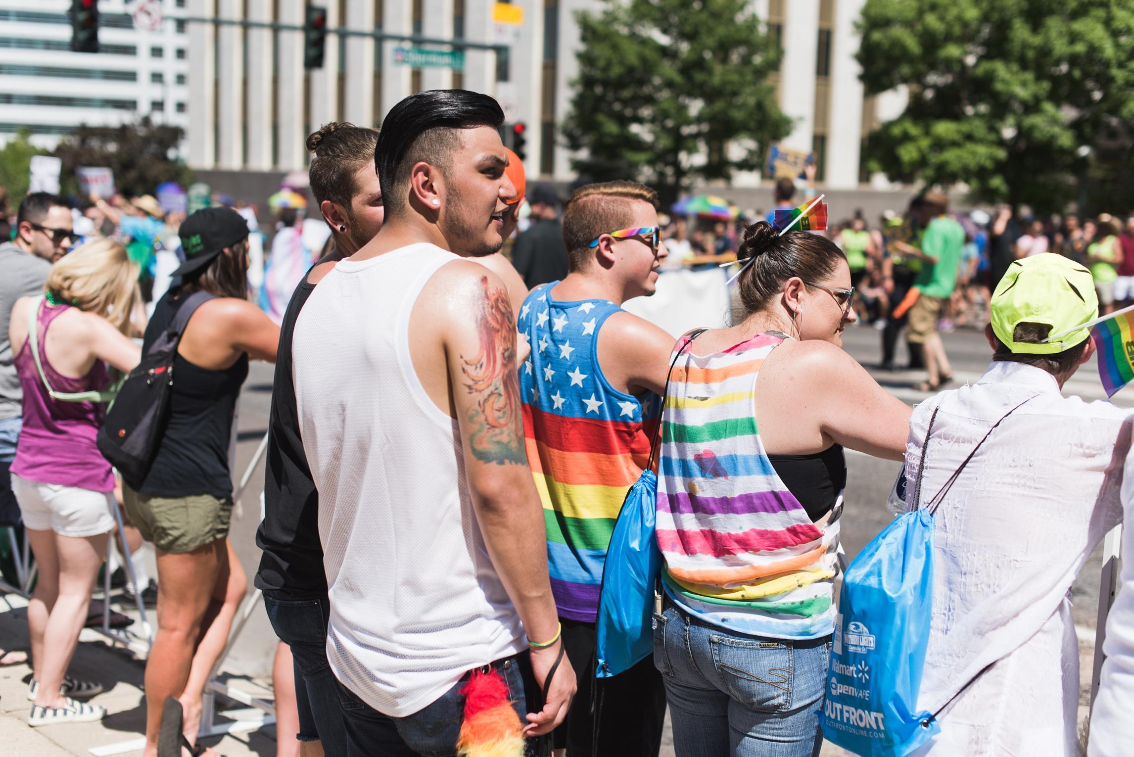The pride parade in Denver, Colorado. Photography by Sonja Salzburg of Sonja K Photography.