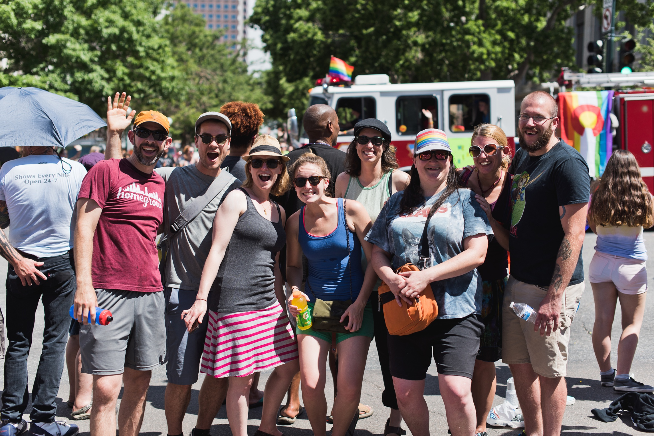 Some of our friends at the pride parade in Denver. Photography by Sonja Salzburg of Sonja K Photography.