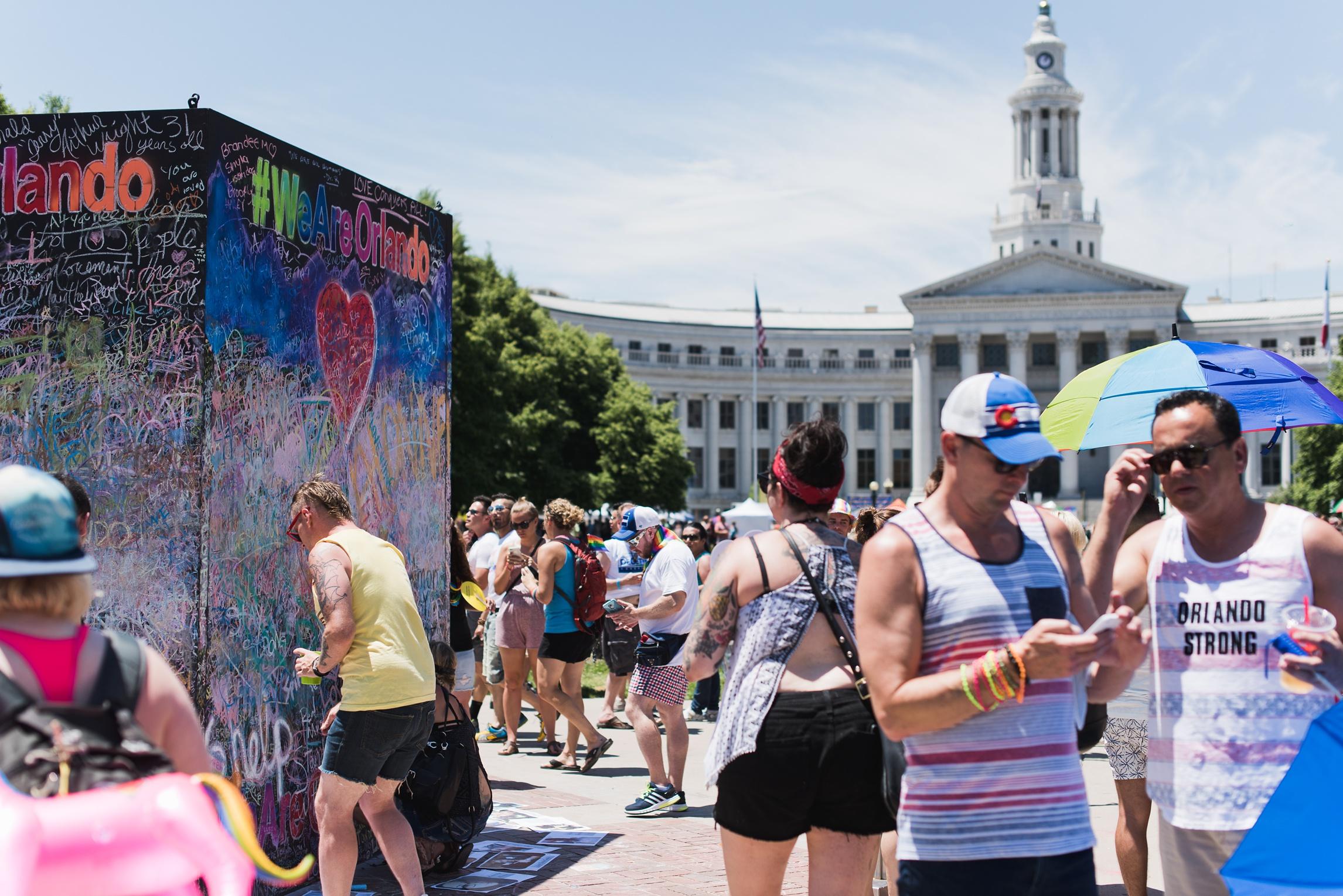 Pride in Denver, Colorado. Photography by Sonja Salzburg of Sonja K Photography.
