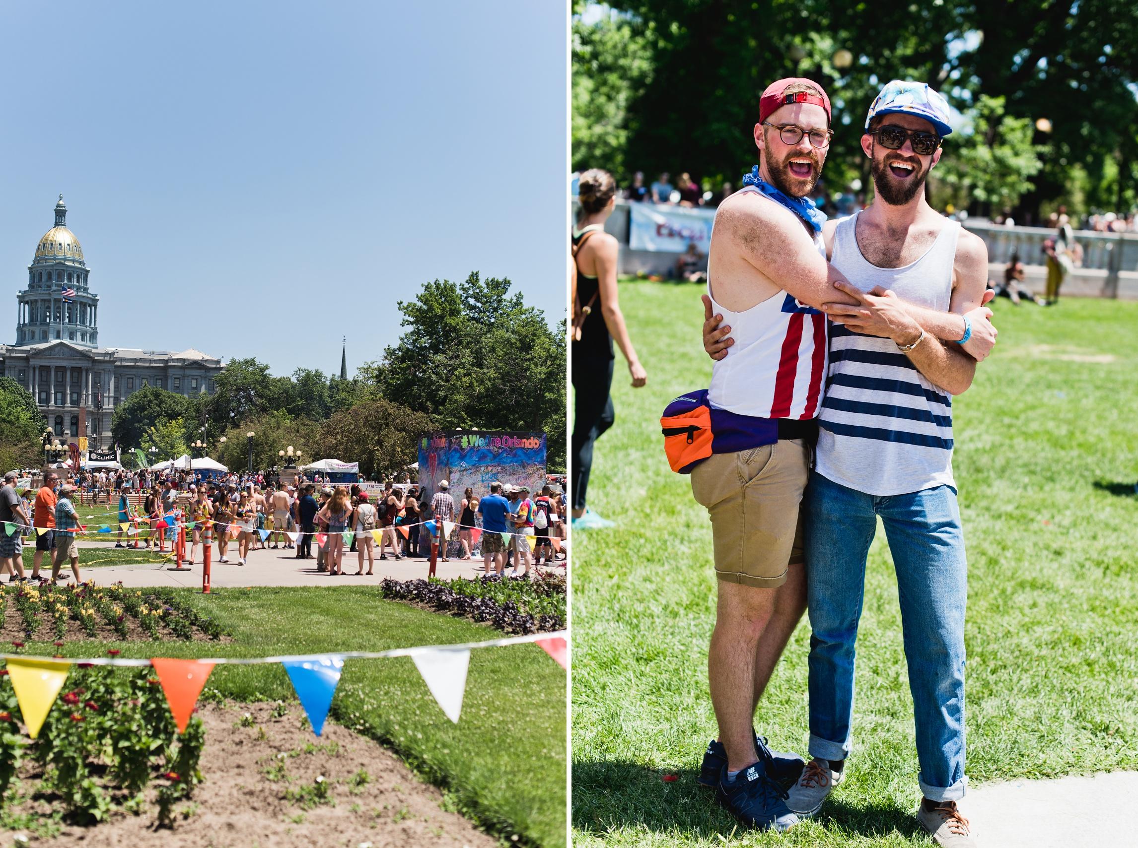 LGBT Pride parade in Denver, Colorado. Photography by Sonja Salzburg of Sonja K Photography.