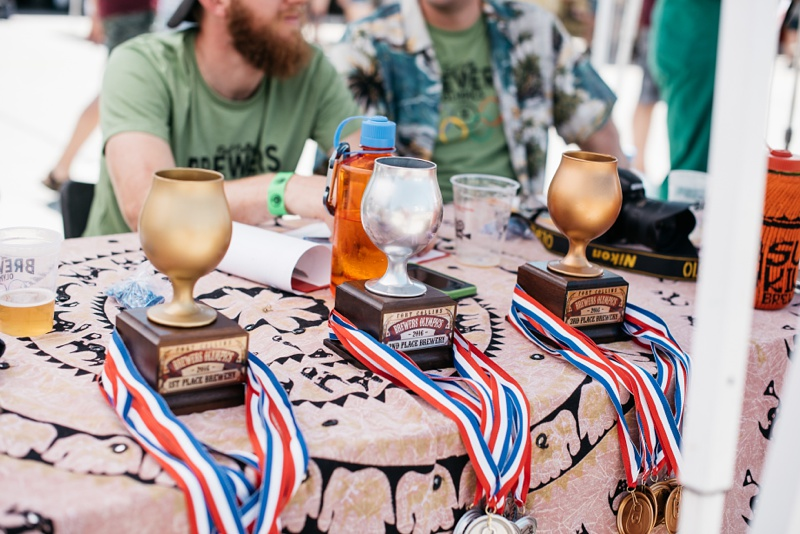 The trophies for the 5th Annual Fort Collins Beer Week Brewers Olympics. Event photography by Sonja Salzburg of Sonja K Photography.