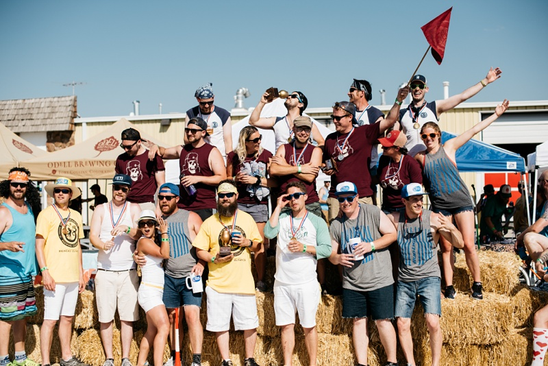 The winners at the 5th Annual Fort Collins Beer Week Brewers Olympics presented by Fortified Collaborations. Event photography by Sonja Salzburg of Sonja K Photography.