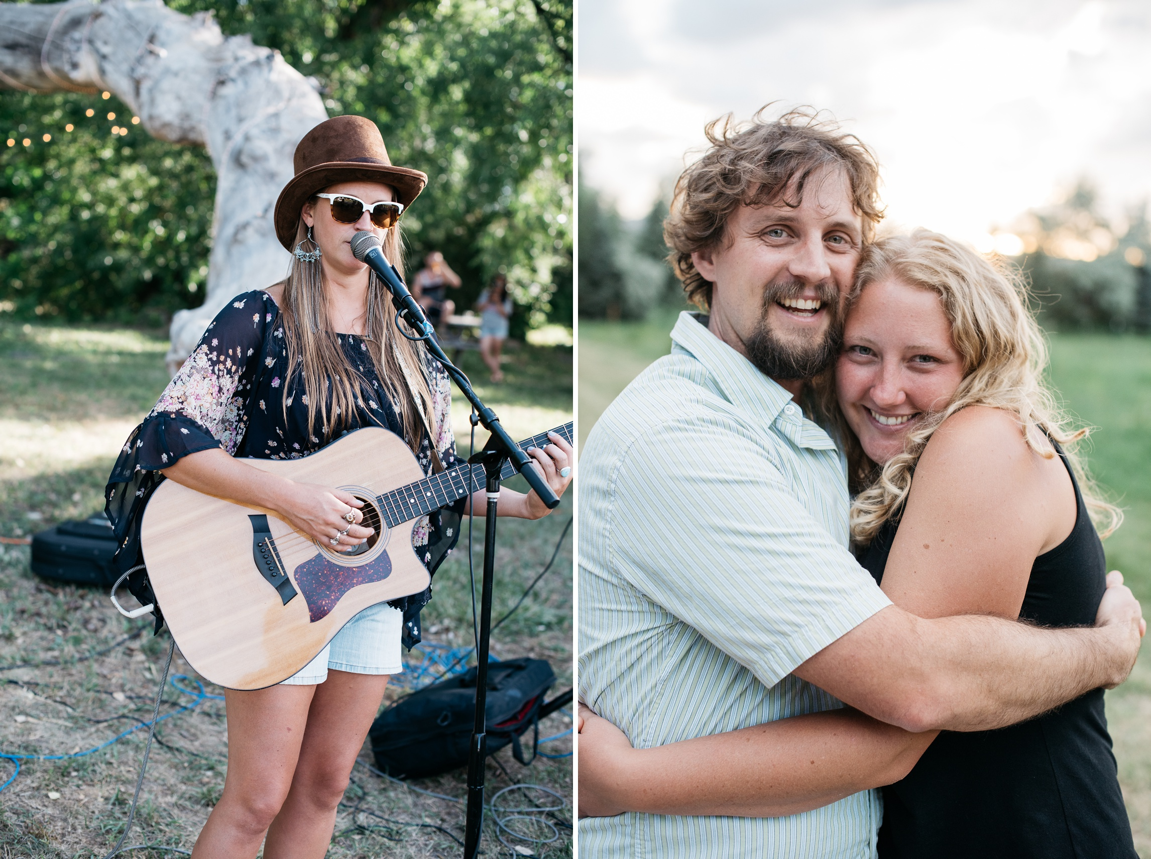 Elise Wunder and Tony and HIlary Kukla at the Fortified Collaborations Heart of Summer Farm Dinner at Happy Heart Farm in Fort Collins, Colorado. Event and portrait photography by Sonja Salzburg of Sonja K Photography.