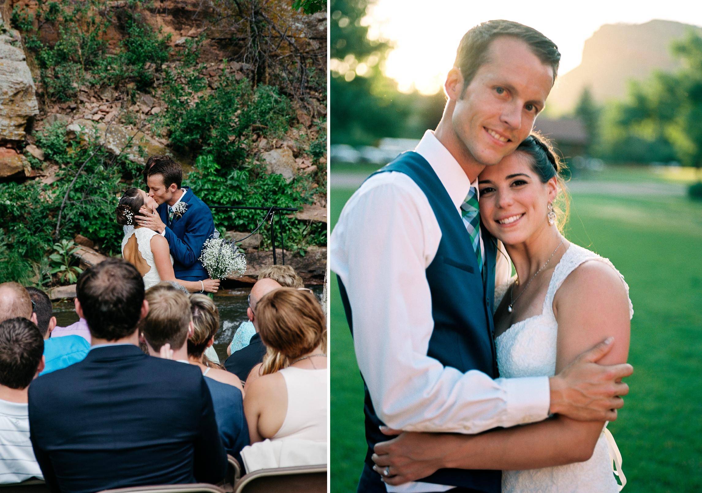 Melissa and Patrick are married on the banks of the St. Vrain River at Planet Bluegrass in Lyons, Colorado. Wedding photography by Sonja and Max Salzburg of Sonja K Photography.