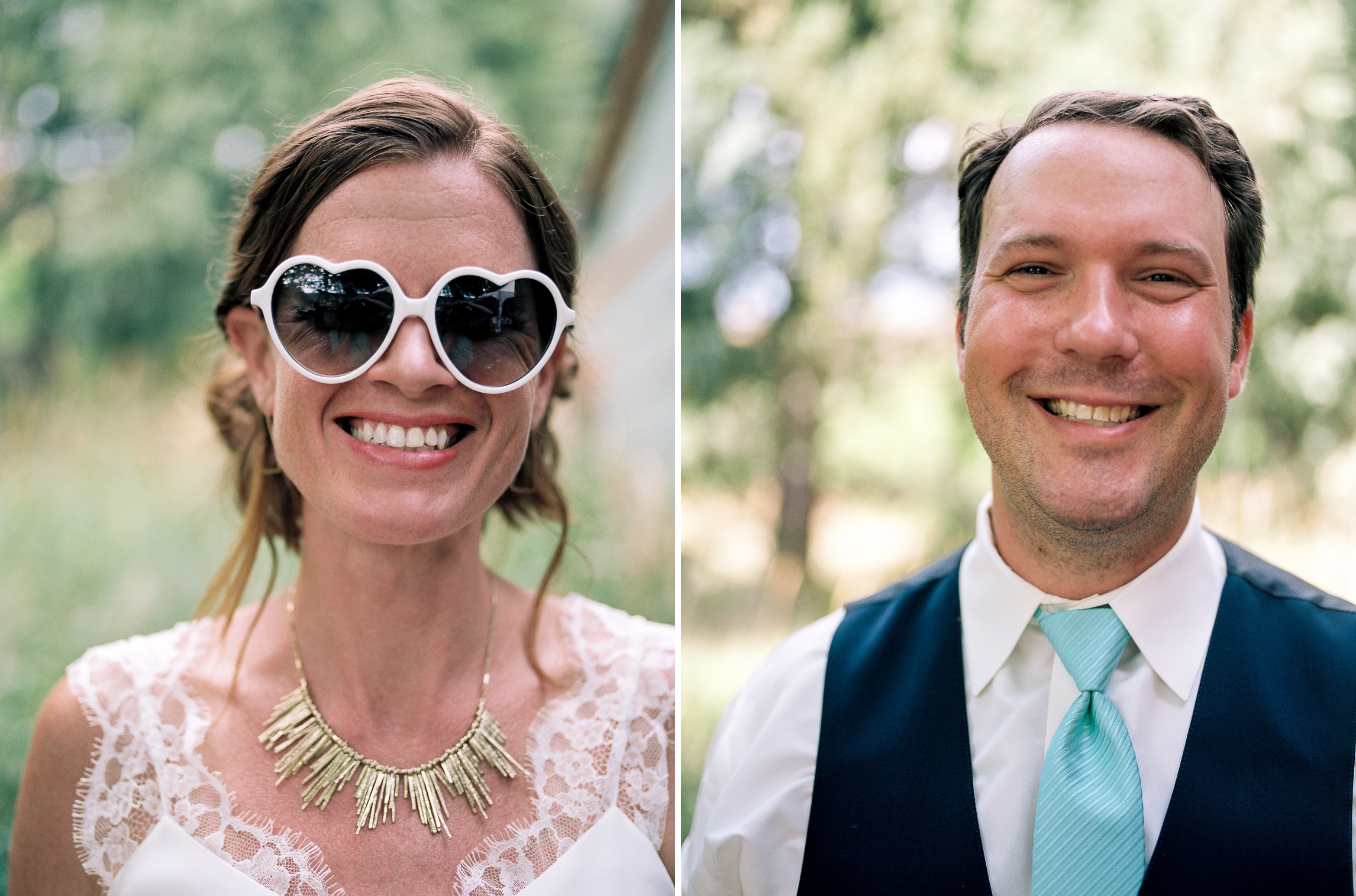 Dana and Cody on their warm summer wedding day afternoon in Fort Collins, Colorado. Wedding photography by Sonja Salzburg of Sonja K Photography.